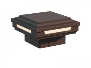 Крышка-светильник для столба ограждения WOODVEX Коричневый