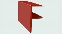 Торцевой F-профиль ДПК SaveWood 4 м Терракот