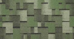 Мягкая черепица Тегола Альпин Зеленая с отливом