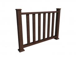 Ограждение - забор WOODVEX Темно-коричневый