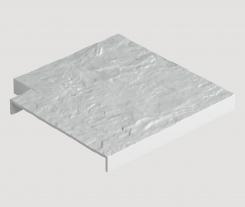 Угловая накладка для бордюра Docke Белая